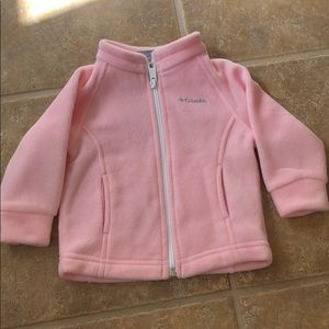 Columbia Fleece Baby 6-12 Month Pink Jacket